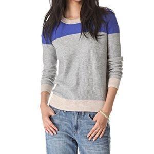 Madewell basketweave colorblock sweater